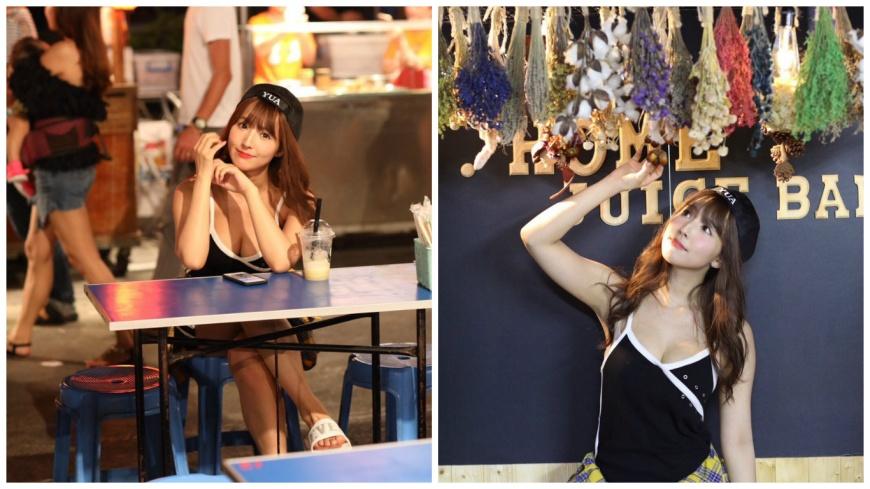 日本知名AV女優三上悠亞,日前到台南花園夜市品嘗小吃。(圖/翻攝自推特) 送來台灣玩!AV女優「啪累了」喊引退 經紀人出大絕